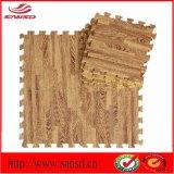 Stuoie di legno di collegamento di puzzle del puzzle del grano di EVA