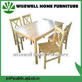 jogo da tabela de jantar da madeira de pinho 5PC