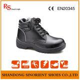Ботинки техники безопасности на производстве лодыжки впрыски PU с стальным пальцем ноги