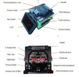 Fast Fiber Connection FTTH Fiber Optic Fusion Splicer avec Cleaver
