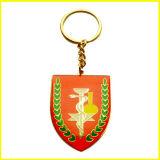 Gold überzogene Legierung mit Edelstein-Frosch Keychain