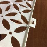 Impiallacciatura di alluminio perforata bianca del reticolo di fiore di colore