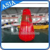 Boyas publicitarias inflables modificadas para requisitos particulares promocionales del cilindro de la etiqueta de plástico