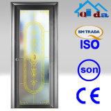 Aprobado por la CE de baño de cristal corredera de aluminio de la puerta