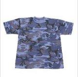 T-shirt rond de collet de chemise courte de Camoflage (1130A)