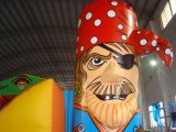 Style populaire Cocowater Design Inflatable Pirate Castle pour enfants LG9051