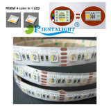 los 60LED/M 5050 cambio colorido IP20 IP65 IP67 IP68 4 de DC12V 24V 18W en 1 luz de tira de la cuerda RGBW LED