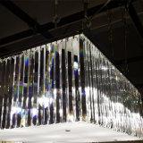 Потолочная лампа китайской комнаты поставщика живущий прямоугольная кристаллический