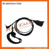 Écouteur de fils du crochet 2 d'oreille de forme de G avec le connecteur de 2.5mm pour HYT Tc320