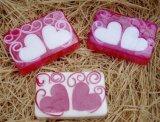 Savon fabriqué à la main de coeur normal pour le cadeau de mariage
