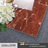 Mattonelle di pavimento rosse lustrate lucidate salone moderno poco costoso iraniano del marmo della giada delle mattonelle