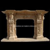 Camino statuario di marmo della mensola del camino di bordi del fuoco (L1-17)