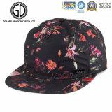 Chapeau coloré de Snapback de beau du type 2016 polyester coréen de fleur