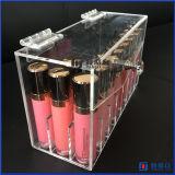 Caisse acrylique de support de rouge à lievres fabriquée à la main avec le couvercle