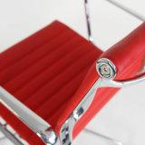 Стул менеджера отдыха гостиницы офиса Eames алюминиевый кожаный (B02)
