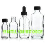 frasco de vidro desobstruído redondo de 0.5oz Boston com conta-gotas de vidro