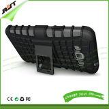 Caisse hybride de portable de Silicone+PC avec le support de véhicule