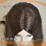 Peluca superior de seda de las mujeres de la Virgen del pelo humano de Remy