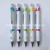 Penna di sfera bianca di colore con il marchio (P1052)