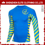 2016 Summer Wholesale Surfing Blue Rash Guards para meninos
