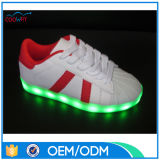 El USB que carga el LED enciende los zapatos, zapatos de la danza del LED