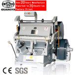 Máquina de la prensa que corta con tintas para el plástico