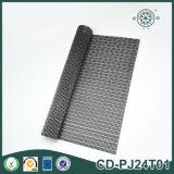 Stuoia nera tessuta PVC della Tabella della famiglia di Rattern
