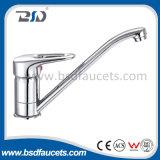 Robinet approuvé de bassin de cuisine d'Acs de chrome de traitement simple en laiton de salle de bains