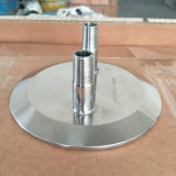 Sanitarios Ss304 Tri Clamp personalizado 12 pulgadas Cap con NPT Fittings