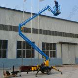 Hontyliftの油圧トレーラーは屋外の維持のための連結されたブームの上昇のプラットホームを取付けた