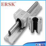 Alumínio que desliza os trilhos com o Ersk produzido