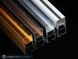 Profils en aluminium de voie de rideau avec la couleur argentée balayée