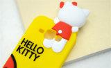 Nueva caja del teléfono celular del silicón del arqueamiento del gatito de la historieta 2016 hola (XSK-010)