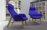 현대 섬유유리 여가 의자는 나무다리 (FC-002)로 놓았다
