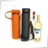 Support en cuir de transporteur de cadeau de mémoire de vin d'unité centrale