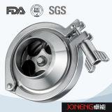 Tri válvula de verificación higiénica embridada del acero inoxidable (JN-NRV1002)