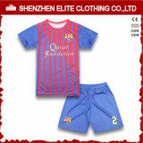 Concevoir les gosses uniformes d'équipe du football de sublimation