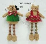"""8 """" котов кнопки h Legged меховых, украшение рождества 3asst"""