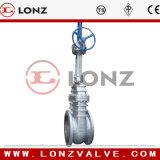 Válvula de puerta de extremo del reborde del acero de molde