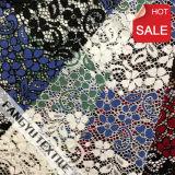 熱い販売法の多彩なナイロン編むレースファブリック
