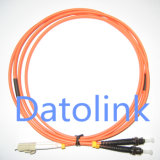 섬유 Optic Patch Cord LC/PC-ST/PC Sm Duplex LSZH 3.0mm