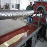 Tuyau industriel flexible ondulé faisant la machine