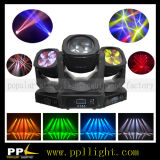 렌즈 Rotating 4PCS 25W LED Beam Moving Head