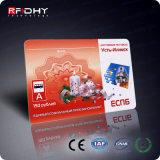 Carte sèche d'impression de Menmbership d'IDENTIFICATION RF sans contact de PVC de MIFARE S50