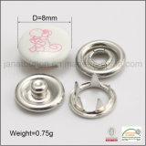 Botón más nuevo vendedor caliente del broche de presión del diente del casquillo del metal del diseño para el desgaste de los cabritos del bebé