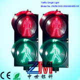 En12368 certificó el semáforo peatonal de los parásitos atmosféricos dos LED de 300m m que contelleaba