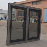 Guichet en aluminium enduit de tissu pour rideaux de profil de poudre de la qualité Kz265 avec la moustiquaire composée