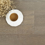 Suelo de bambú manchado planchado en frío del roble