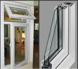 Застекленное окно наклона и поворота Casement PVC окна UPVC стеклянное
