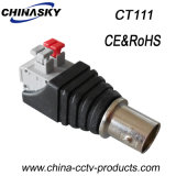 Cable connecteur femelle BNC de télévision en circuit fermé avec le terminal «Press-Fit» de Screwless (CT111)